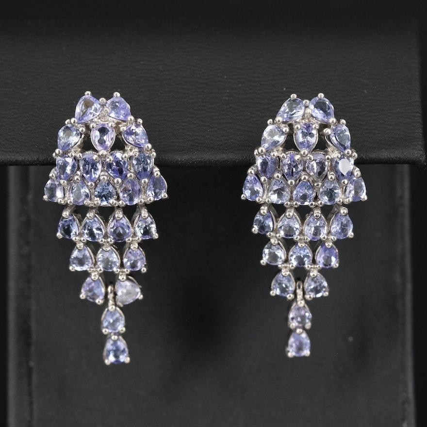 Sterling Tanznaite Drop Earrings