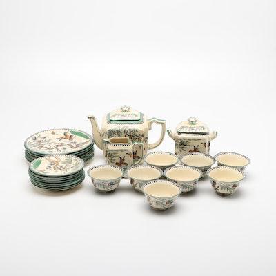 "Mason's Ironstone ""Koro"" Tea Set and Dessert Plates, Late 19th/ Early 20th C."