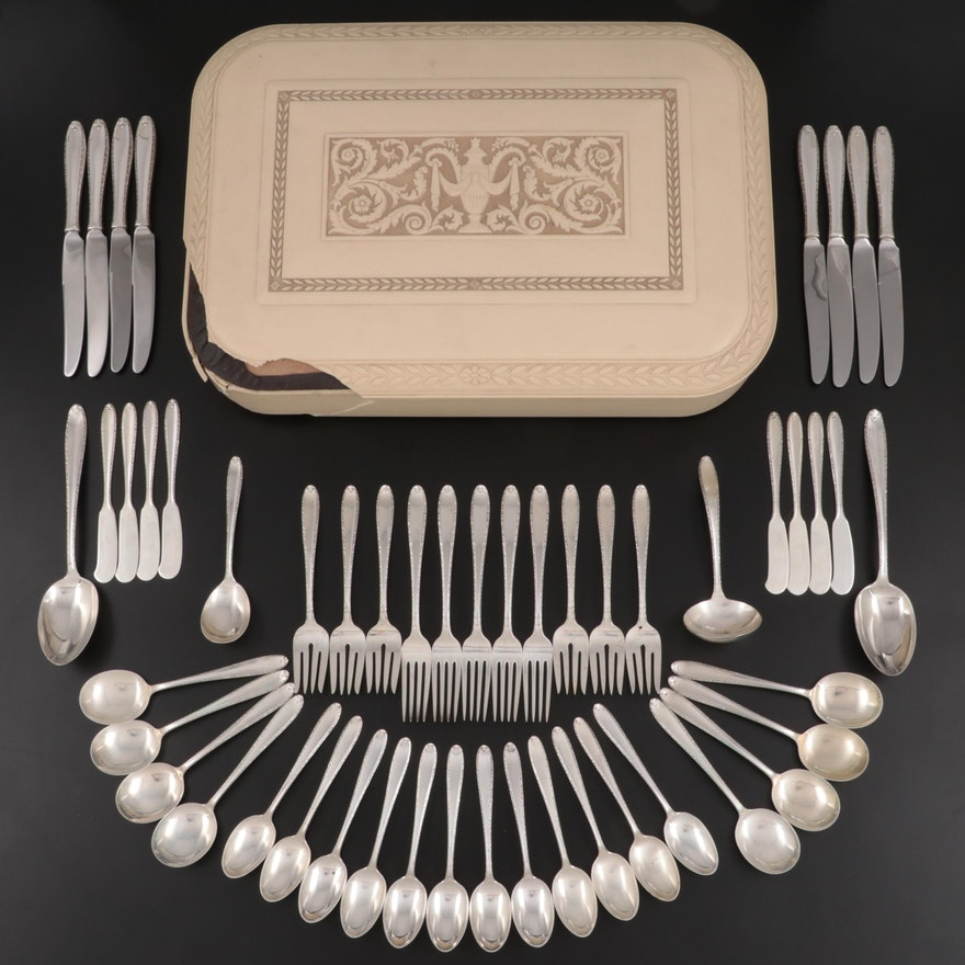 """Alvin """"Southern Charm"""" Sterling Silver Flatware in Chest, 1947–1991"""