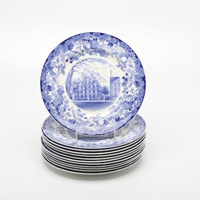 """Wedgwood """"Harvard University"""" Porcelain Dinner Plates, 1920s"""