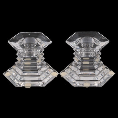 Baccarat Crystal Candle Holders