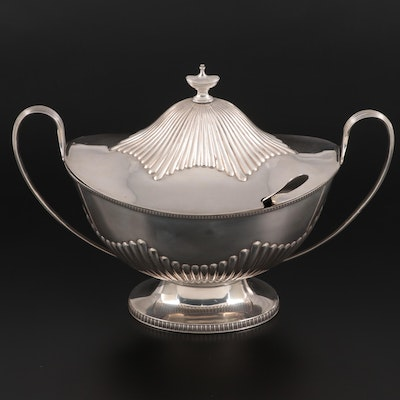 Mappin & Webb of England Silver Plate 4-Pint Tureen with Ladle, 19th Century