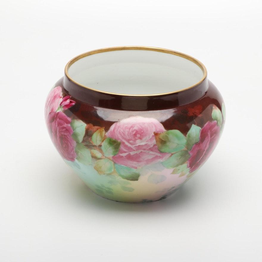 Floral Ceramic Rose Bowl Vase