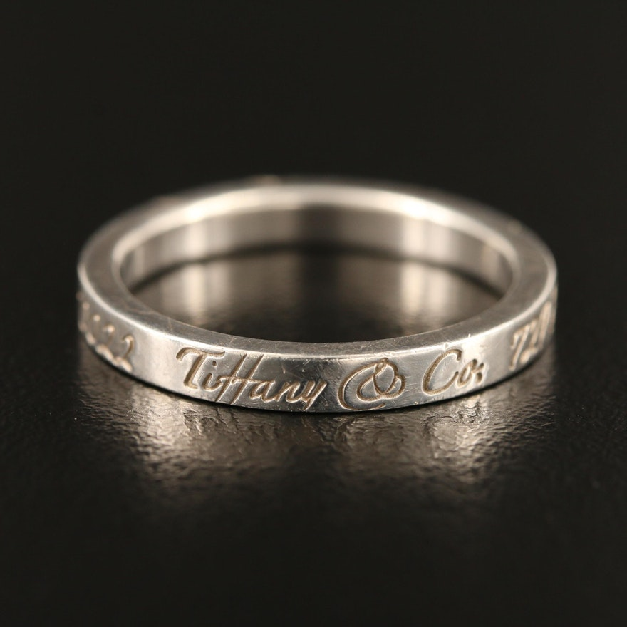 """Tiffany & Co. Sterling Silver """"Notes"""" Band"""