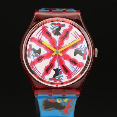 1991 Swatch Chicchirichi Quartz Wristwatch