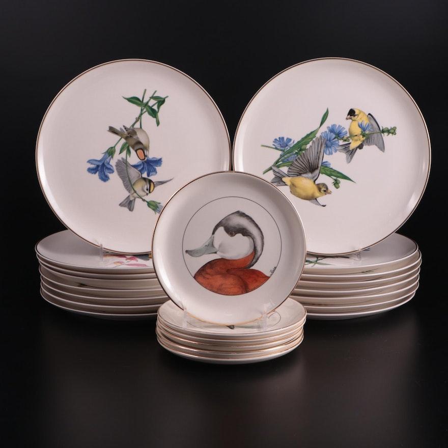 "Syracuse China ""American Songbirds"" Plates with Delano Studios Duck Plates"