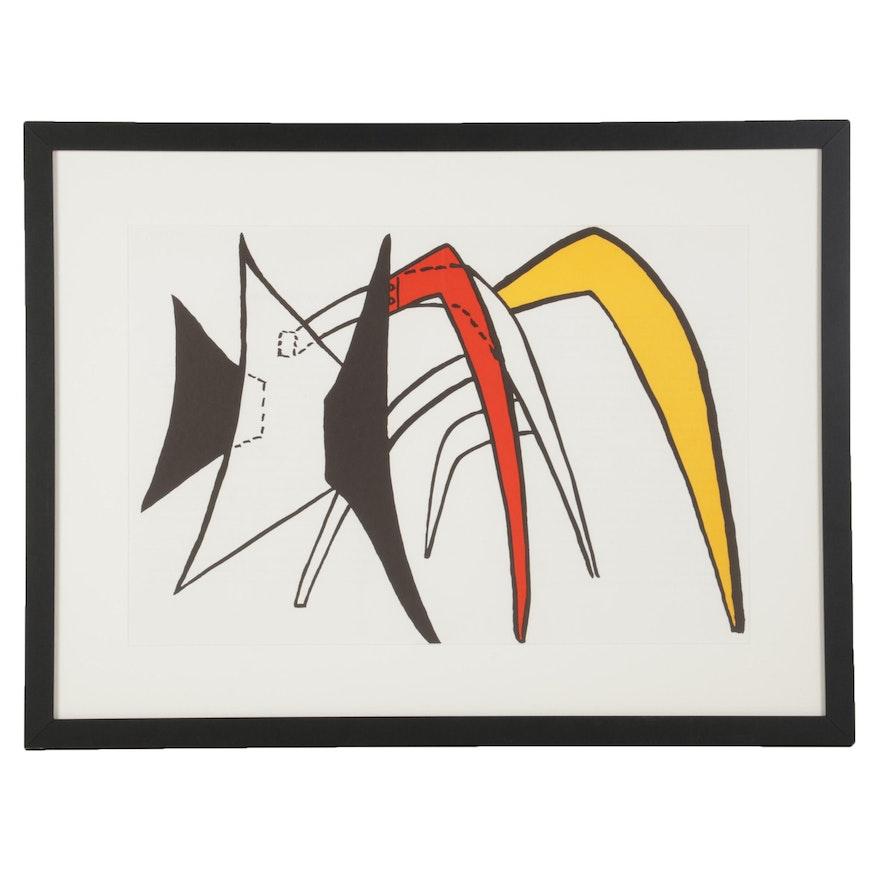 """Alexander Calder Double-Page Color Lithograph for """"Derrière le Miroir,"""" 1963"""