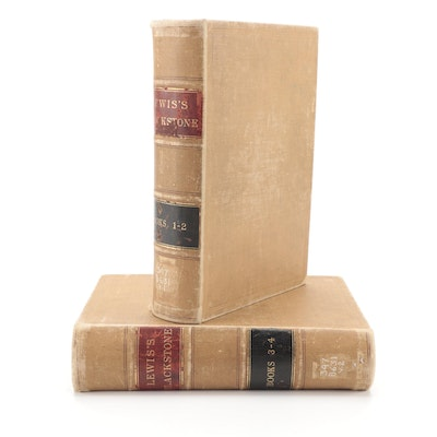 """""""Commentaries on the Laws of England"""" by Sir William Blackstone, 1922"""
