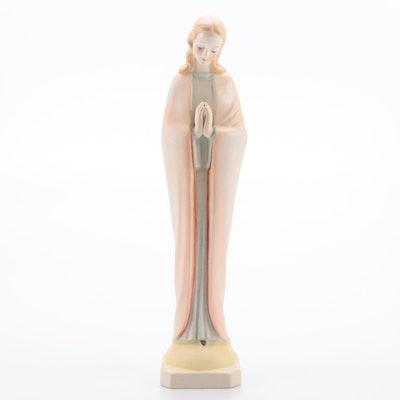 Ceramic Praying Madonna Figurine