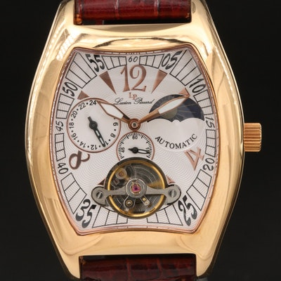 Lucien Piccard Gold Tone Automatic Wristwatch