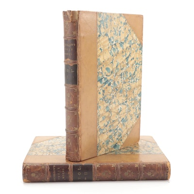 """""""Longfellow's Prose Works"""" Riverside Edition Complete Two-Volume Set, 1886"""