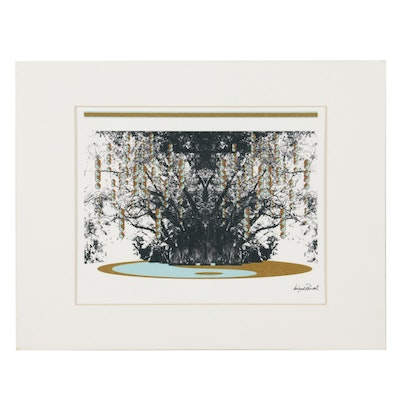 Abstract Giclée After Miguel Paredes, 21st Century