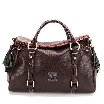 Dooney & Bourke Florentine Satchel in Brown Leather