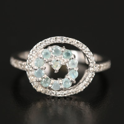 Sterling Alexandrite and Cubic Zirconia Ring