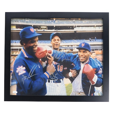 Doc Gooden, Darryl Strawberry and Mike Tyson Signed Photo Print  COA