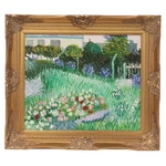 "Landscape Oil Painting after Vincent van Gogh ""Daubigny's Garden,"" 21st Century"