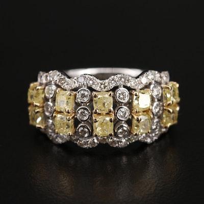 18K 2.05 CTW Diamond Multi-Row Ring