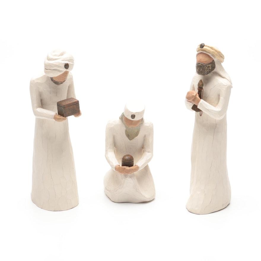 "Willow Tree ""The Three Wisemen"" Ceramic Figurines"