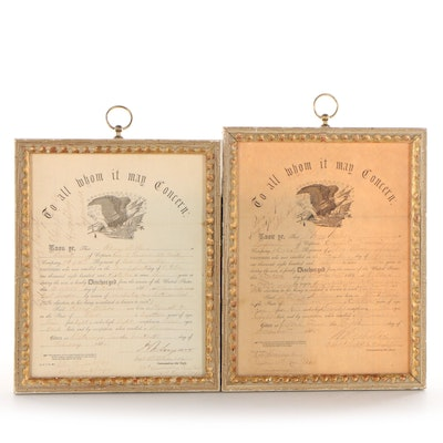 Civil War Discharge Certificates for Henry Wilson, 1864 and 1865