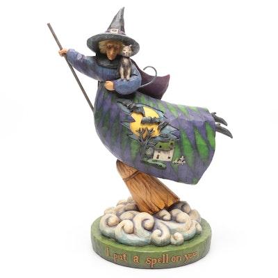"Jim Shore Heartwood Creek ""I Put A Spell On You"" Halloween Figurine"