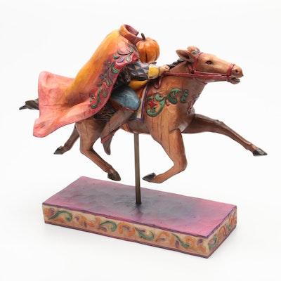 "Jim Shore Heartwood Creek ""The Headless Rider Follows"" Ceramic Figurine"