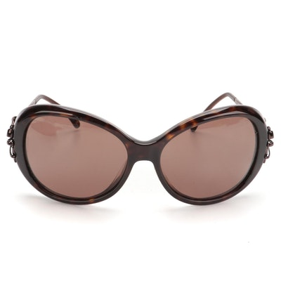 Chanel 5178-A Bow Motif Round Sunglasses with Case