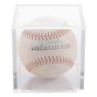 1965 Cincinnati Reds Signed Team Baseball with Perez, Maloney, and Others
