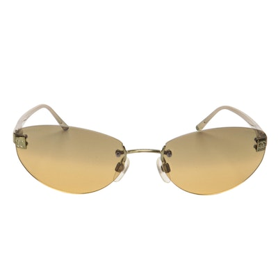 Chanel 4069 Rimless Sunglasses in Green Tint