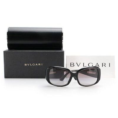 BVLGARI 8047 Oversized Sunglasses in Black with Case and Box