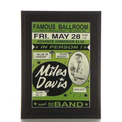 Miles Davis Giclée Concert Poster, 21st Century