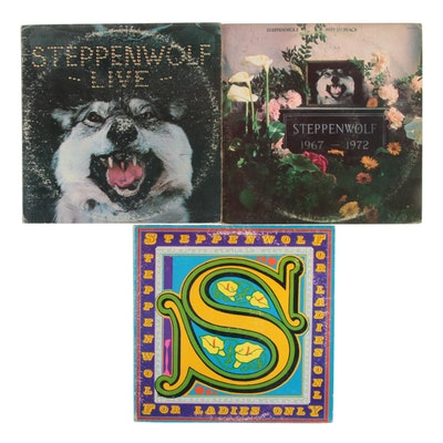 """Steppenwolf """"Live"""", """"Rest In Peace"""", """"For Ladies Only"""" Vinyl LP Records"""