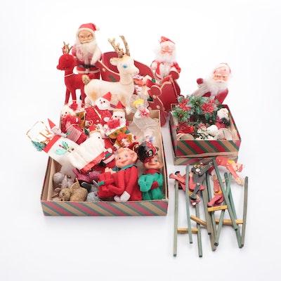 Christmas Ornaments and Santa Themed Décor