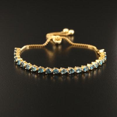Sterling London Blue Topaz Bolo Bracelet