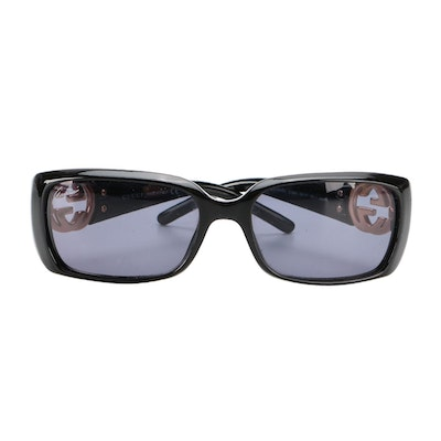 Gucci GG 3504/S Black Rectangular Sunglasses with Case