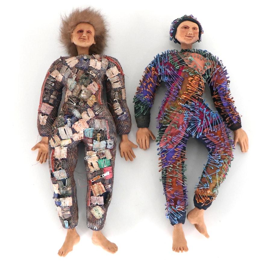Folk Art Mixed Media Dolls