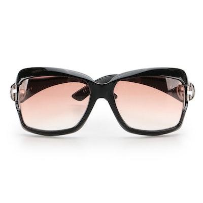 Gucci 2598/S Square Sunglasses in Black with Gradient Lenses