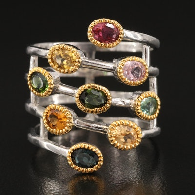 Sterling Tourmaline Wrap Ring