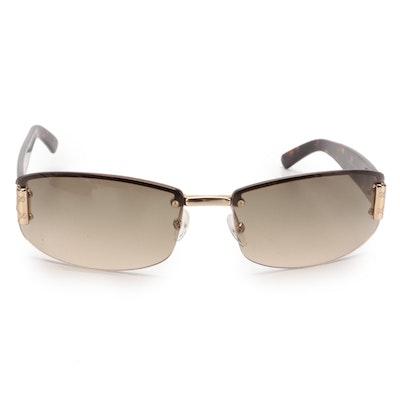 Gucci GG 1799/S Rimless Rectangular Sunglasses