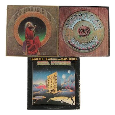 "Grateful Dead ""American Beauty"", ""Blues For Allah"", ""Mars Hotel"" Vinyl Records"