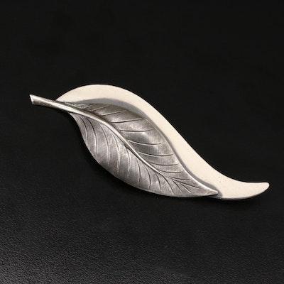 Vintage Beau-Sterling Sterling Silver Foliate Brooch
