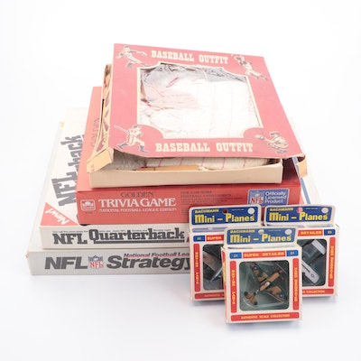 Bachmann Mini-Planes, Child's Baseball Outfit, and Tudor NFL Strategy Games