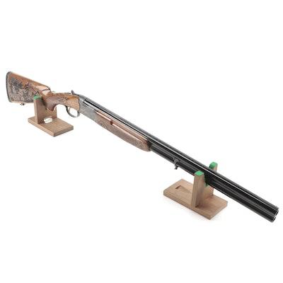 Uzumlu Silah Sanayi Kooperatifi 20 Gauge Over Under Shotgun with Carved Stock