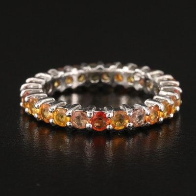 Sterling Sapphire Eternity Band