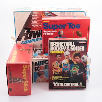 Lionel  Power Passers Slot Car Racing Set and Other Sports Games, 1970s