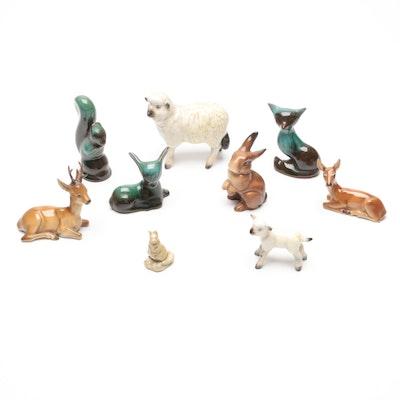 Ceramic Woodland Animal Figurines