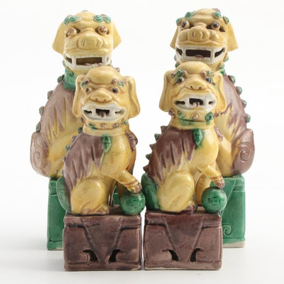 Chinese Ceramic Guardian Lions
