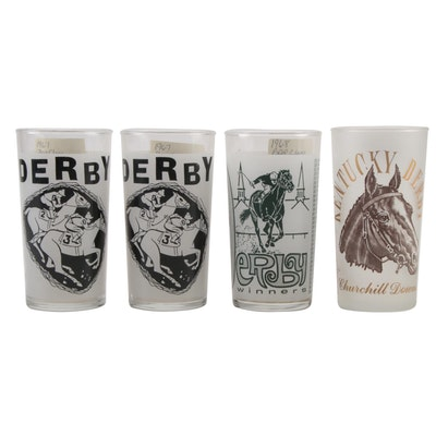 Kentucky Derby Julep Glasses, 1964, 1967, 1968