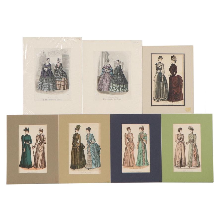 Figural Lithographs After Godey's Fashion and Modes de Paris