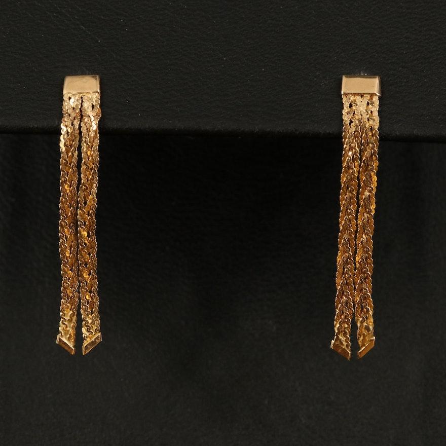 14K Serpentine Braided Drop Earrings