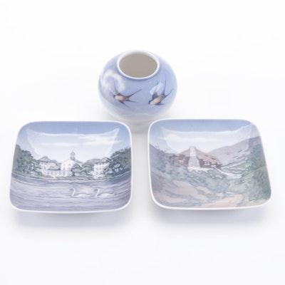 Royal Copenhagen Ceramic Dishes and Jar